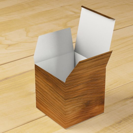 Faux Barn Wood Party Favour Box Wedding Favor Boxes