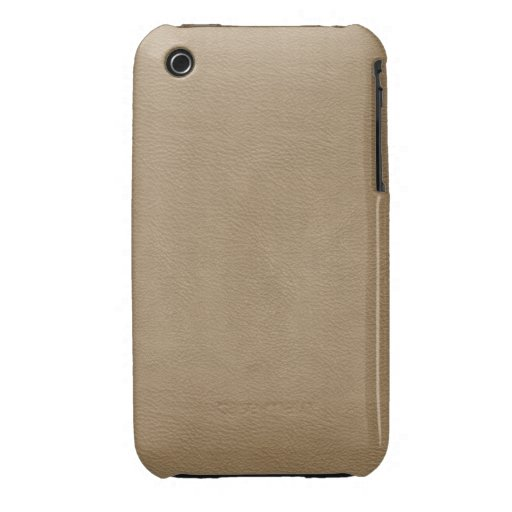 Faux Beige Leather iPhone 3 Covers