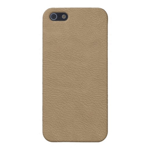 Faux Beige Leather iPhone 5 Covers