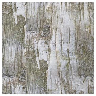 Faux Birch Tree Bark Texture Look Pattern Fabric