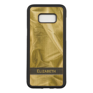 : Faux Black and Gold Lame' Metallic Carved Samsung Galaxy S8+ Case