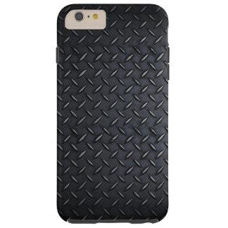 Faux Black Diamond Plated Sheet Metal Tough iPhone 6 Plus Case