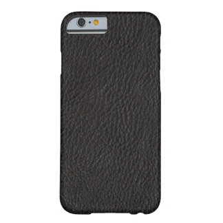 Faux Black Leather Barely There iPhone 6 Case