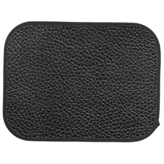 Faux Black Leather Car Mat