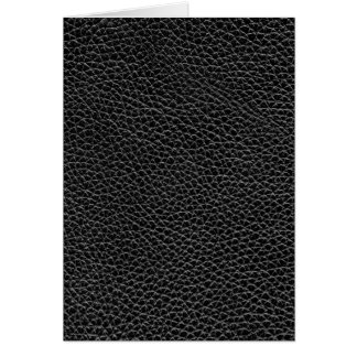 Faux Black Leather Card
