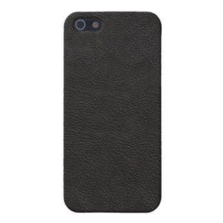 Faux Black Leather Cover For iPhone 5/5S