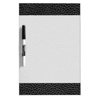 Faux Black Leather Dry-Erase Whiteboard