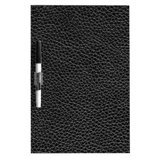 Faux Black Leather Dry Erase Whiteboards