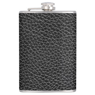 Faux Black Leather Flask
