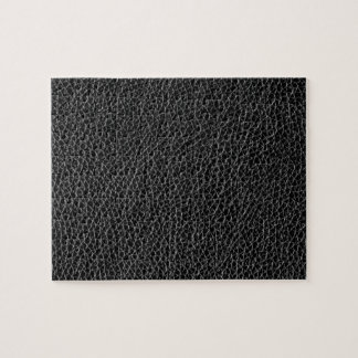 Faux Black Leather Jigsaw Puzzle