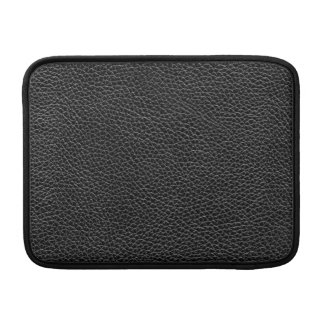 Faux Black Leather MacBook Sleeve
