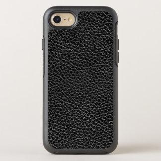 Faux Black Leather OtterBox Symmetry iPhone 8/7 Case