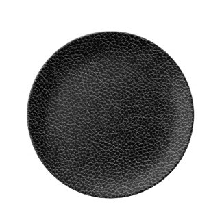 Faux Black Leather Plate