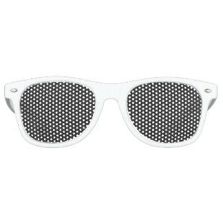 Faux Black Leather Retro Sunglasses
