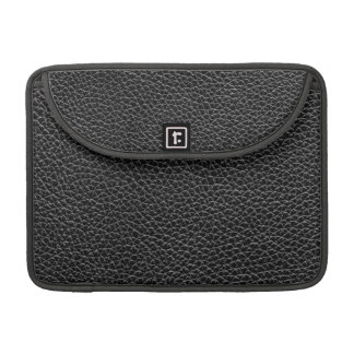 Faux Black Leather Sleeve For MacBooks