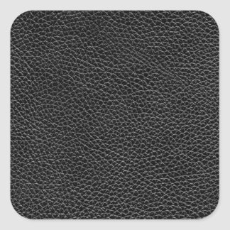 Faux Black Leather Square Sticker