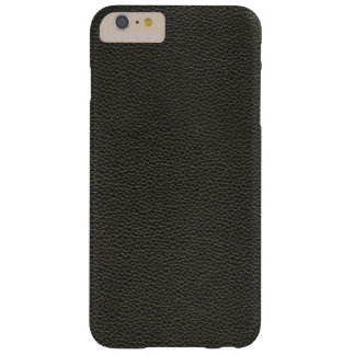 Faux Black Leather Texture Barely There iPhone 6 Plus Case