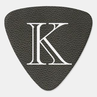 Faux Black Leather Texture Guitar Pick