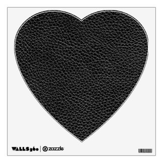 Faux Black Leather Wall Decal