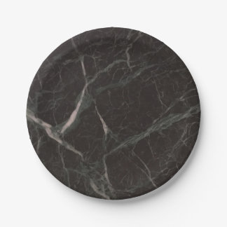 Faux Black Marble Appearance 4Claude Paper Plate