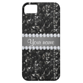 Faux Black Sequins and Diamonds iPhone 5 Case