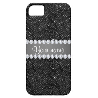Faux Black Sequins Sparkles and Diamonds iPhone 5 Covers