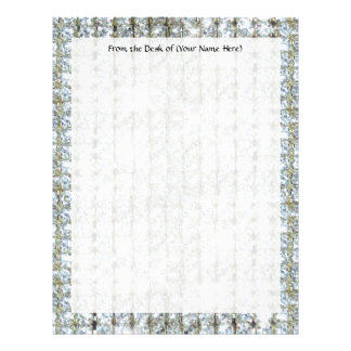 Faux Bling Custom Letterhead Stationery Paper