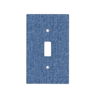 Faux Blue Denim Light Switch Cover