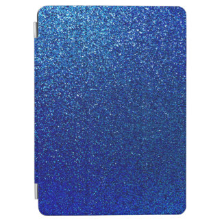 Faux Blue Glitter Background Sparkle Texture iPad Air Cover