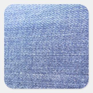 Faux Blue Jeans Background Square Sticker