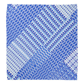 Faux Blue Weave Design on Bandana