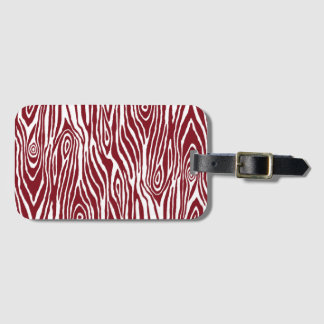Faux Bois Luggage Tag