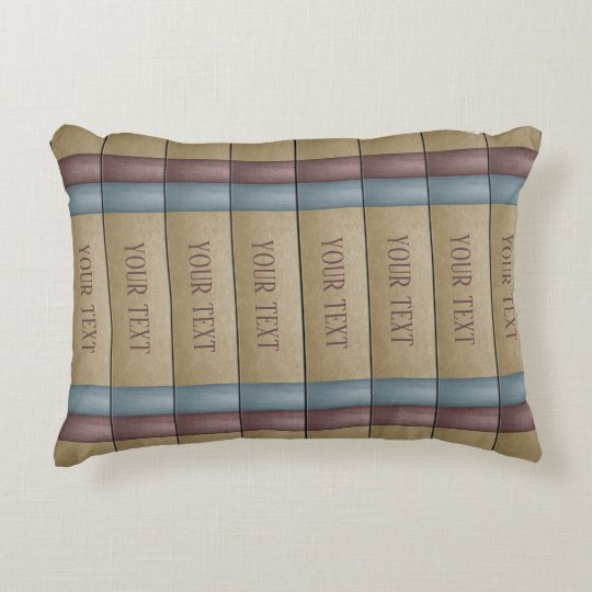 Faux Book Shelf Book Spines Library Decorative Pillow