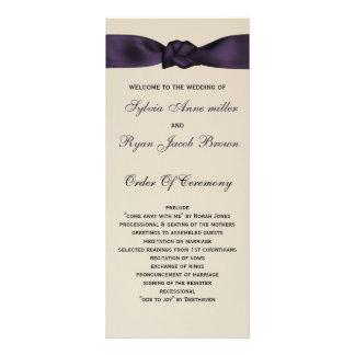 FAUX bow amethyst program and Wedding menu