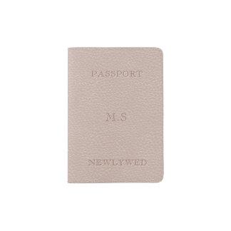 Faux Bridal Blush Leather Look Passport Holder
