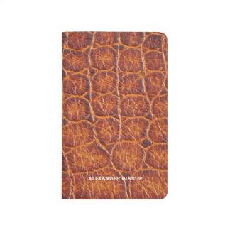 Faux Brown Crocodile Skin Print Personalized Journal