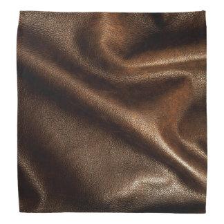 Faux Brown Leather Grain Bandana