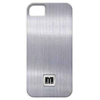 Faux Brushed Aluminum with custom monogram iPhone 5 Case
