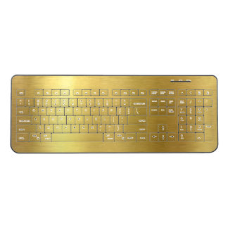 Faux Brushed Gold Wireless Keyboard