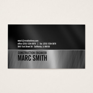Faux Brushed Metal  Business Card Two Sided