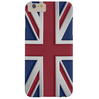Faux Brushed Metal Style Union Jack Barely There iPhone 6 Plus Case