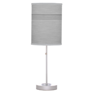 Faux Brushed Metal with Groove Table Lamp