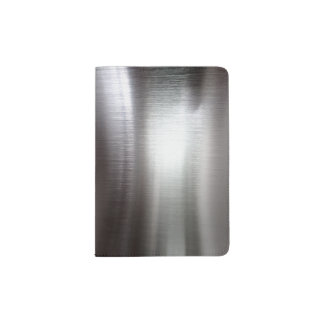 Faux Brushed stainless steel Passport Holder