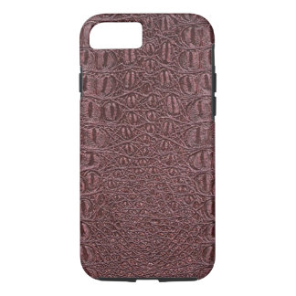 Faux Burgundy Wine Leather iPhone 7 Case