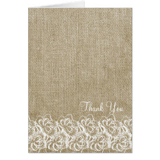 Faux Burlap and Lace Card