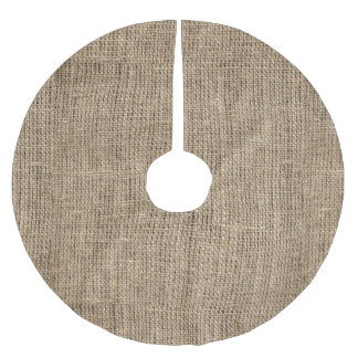 Faux Burlap Brushed Polyester Tree Skirt