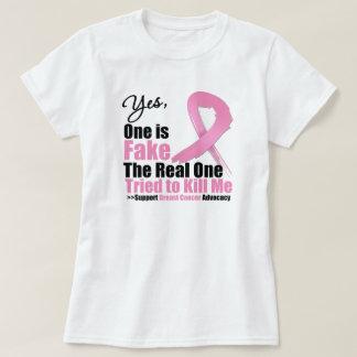 Faux cancer du sein tee shirt