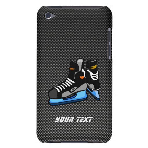 Faux Carbon Fiber Hockey Skates iPod Touch Case