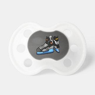 Faux Carbon Fiber Hockey Skates Pacifier