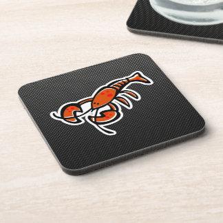 Faux Carbon Fiber Lobster Beverage Coasters